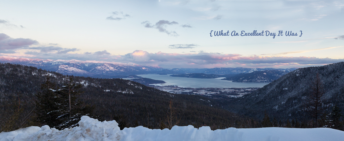 Panoramic View of Sandpoint, ID