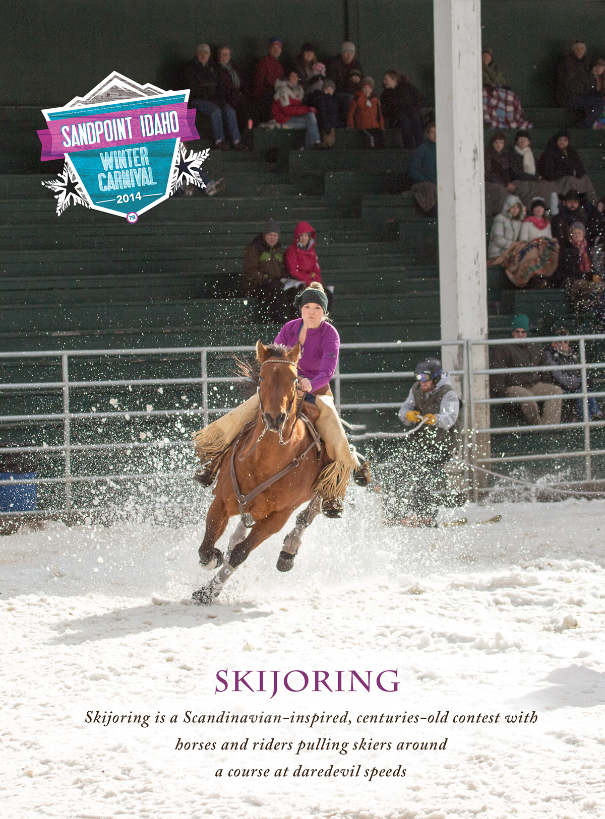 skijoring at Sandpoint Winter Carnival 2014 at the Bonner County Fairgrounds
