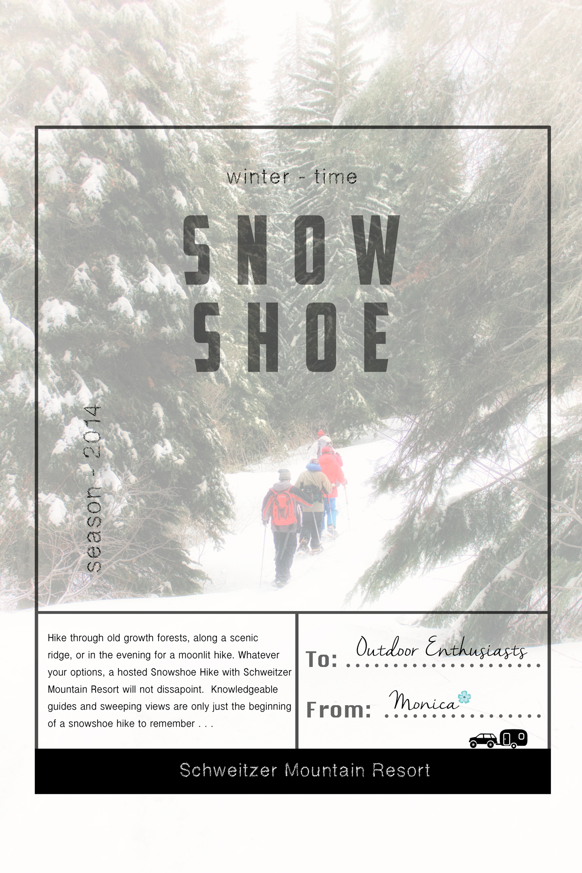 Schweitzer Mountain Resort Guided Snowshoeing Hikes