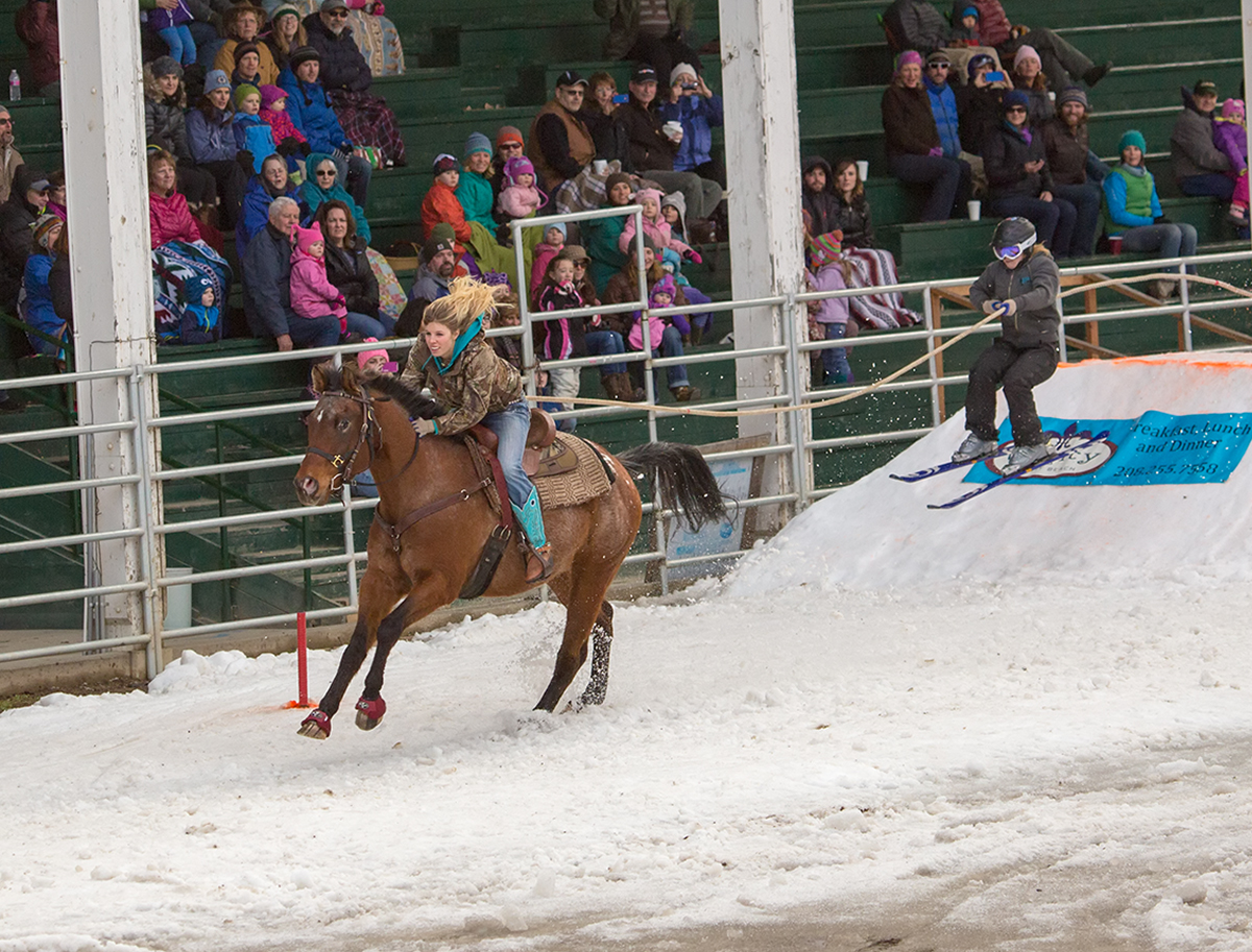 Sandpoint, ID Winter Carnival Skijoring Event via J5MM.com