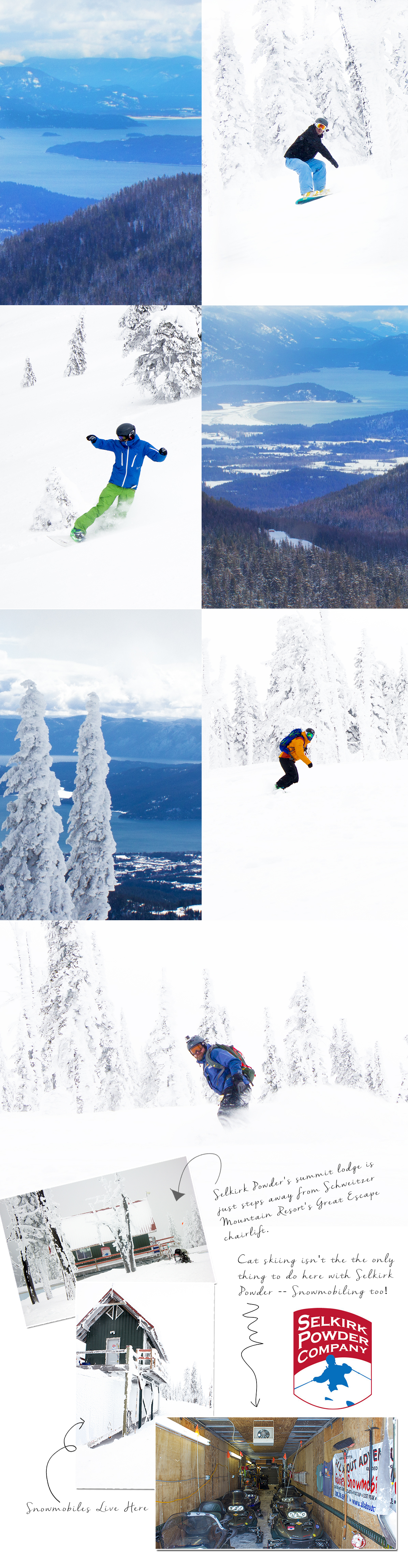 Snowcat Skiing with Selkirk Powder Company in BEAUTIFUL Idaho via J5MM.com