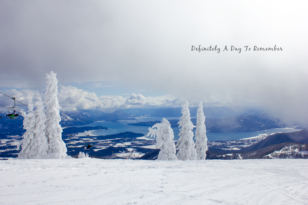 a view from the top of Schweitzer Mountain in Sandpoint, ID via J5MM.com