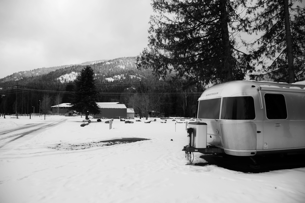 Airstream at the Bonner County Fairgrounds in Sandpoint, ID