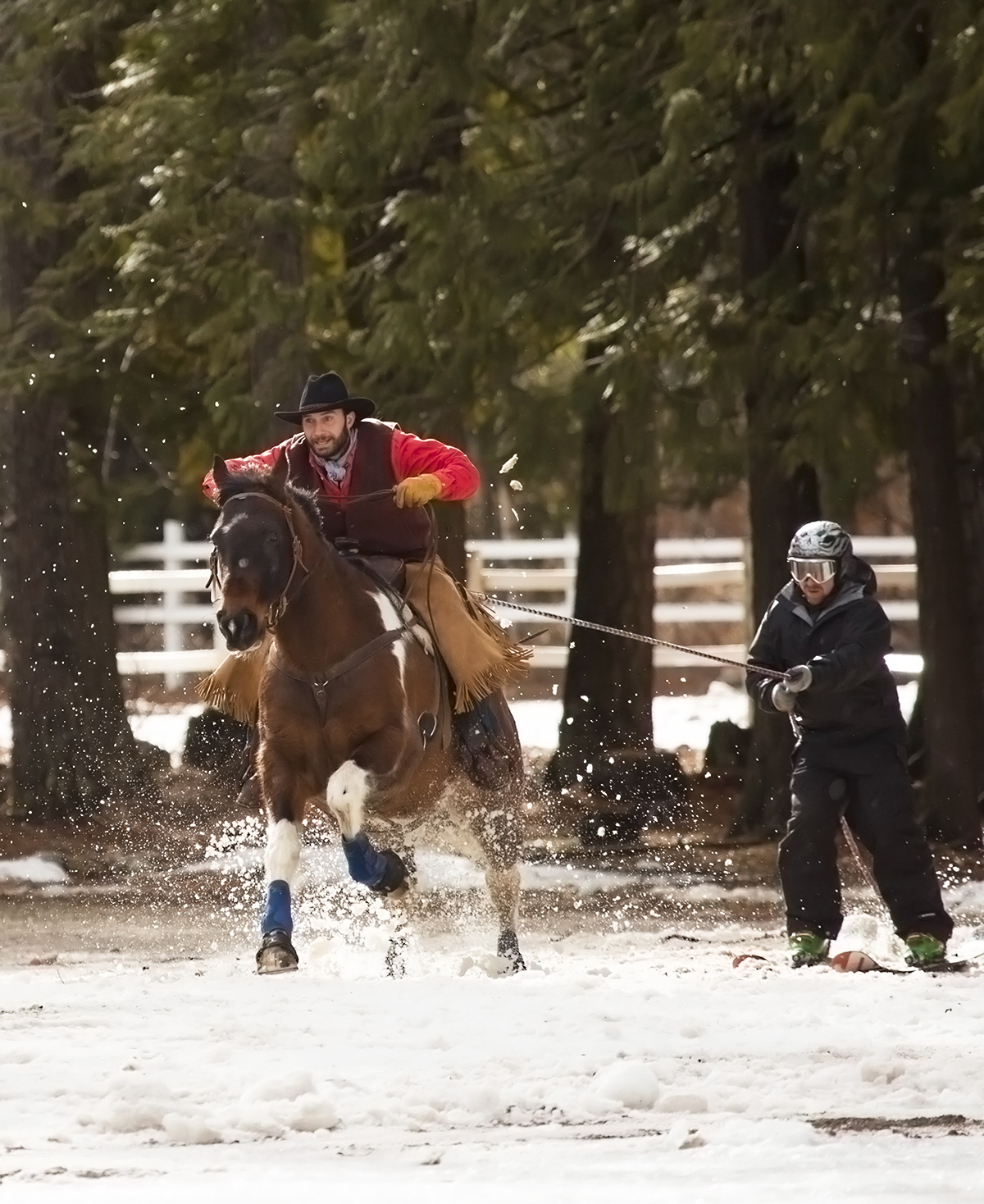 And They're Off ! Skijoring in Sandpoint, ID Winter Carnival 2014 via J5MM.com