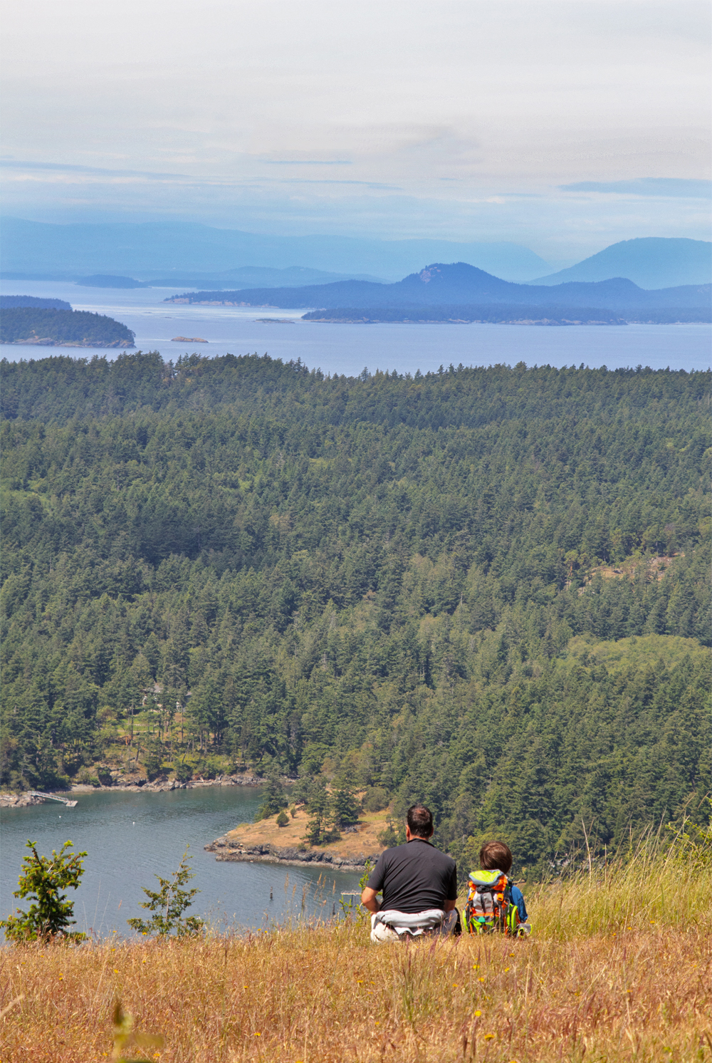 top of Turtleback Mountain on Orcas Island