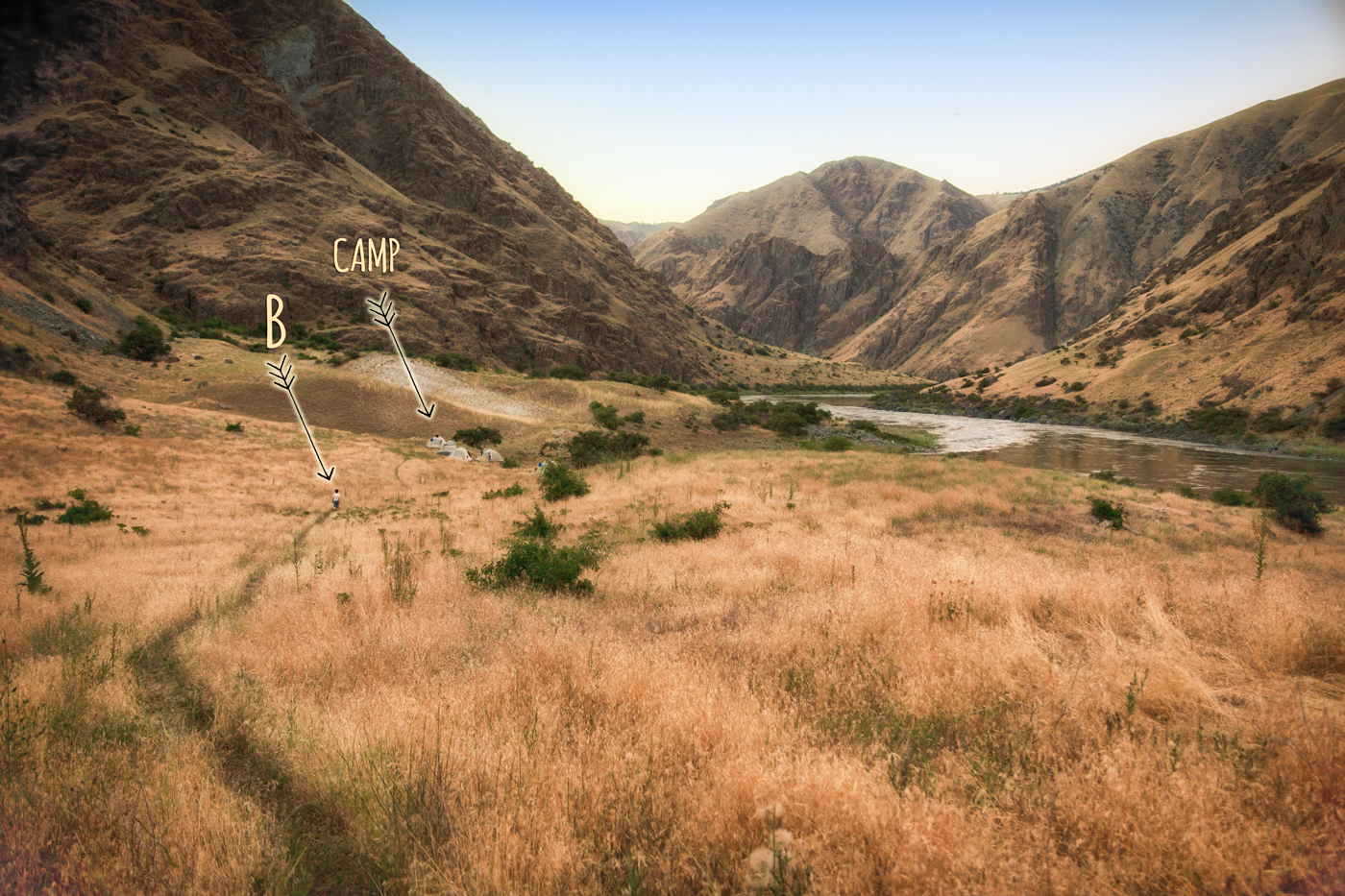 Camping along the Snake River in Hells Canyon with Hells Canyon Raft via J5MM.com