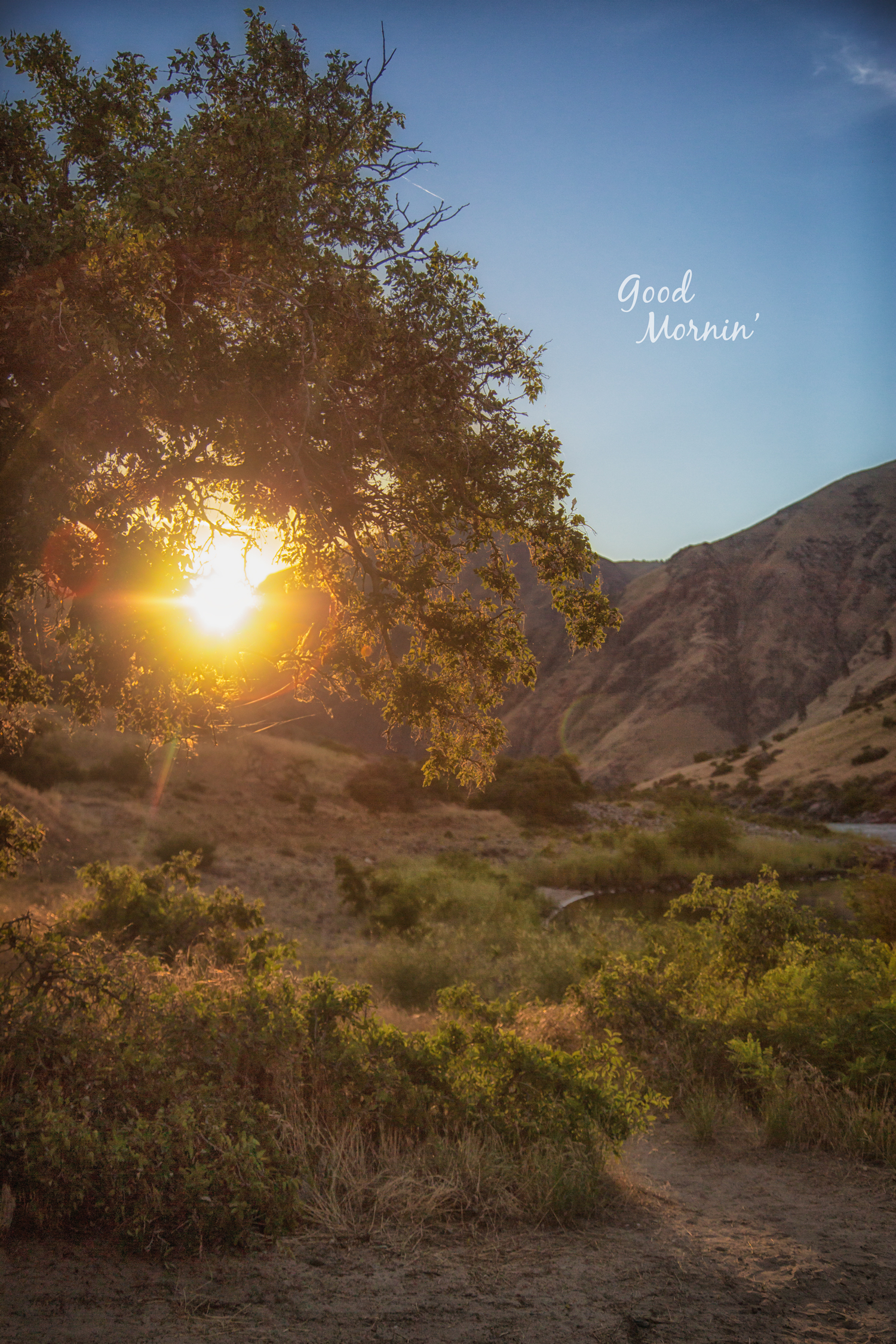 Morning Sun in Hells Canyon via J5MM.com