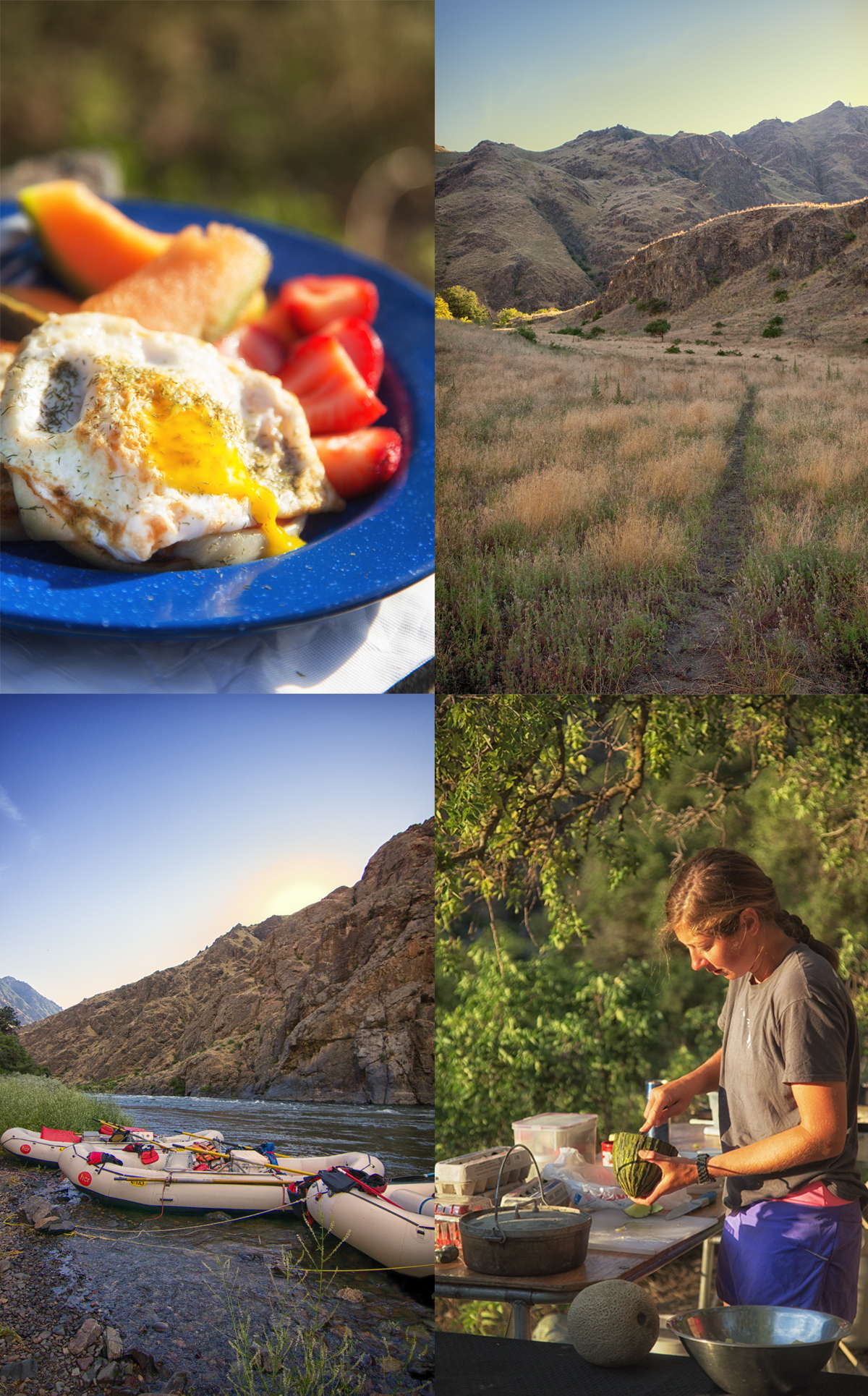Riverside breakfast in Hells Canyon with Hells Canyon Raft via J5MM.com