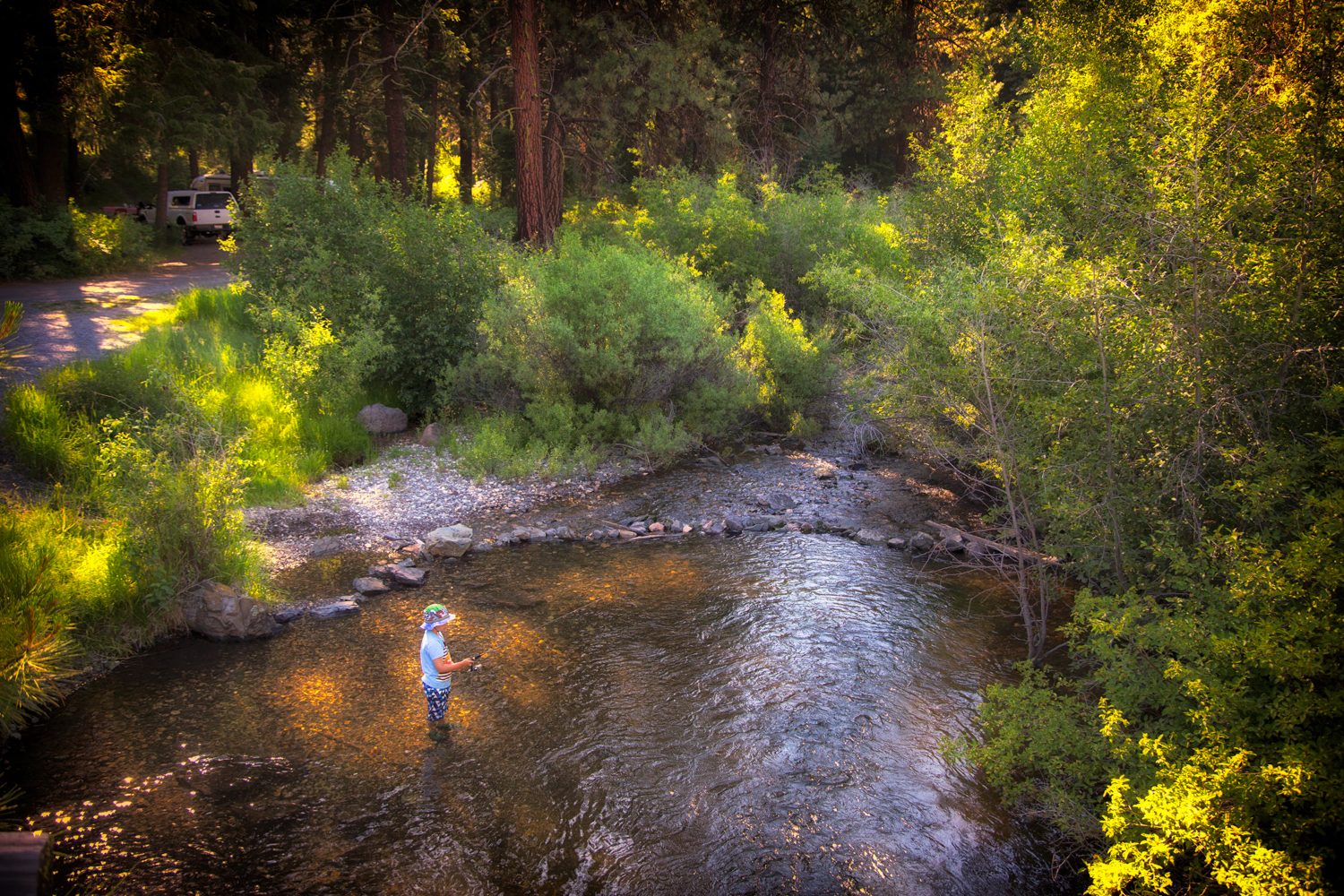 Early Morning Fishing at Wickiup Campground via J5MM.com