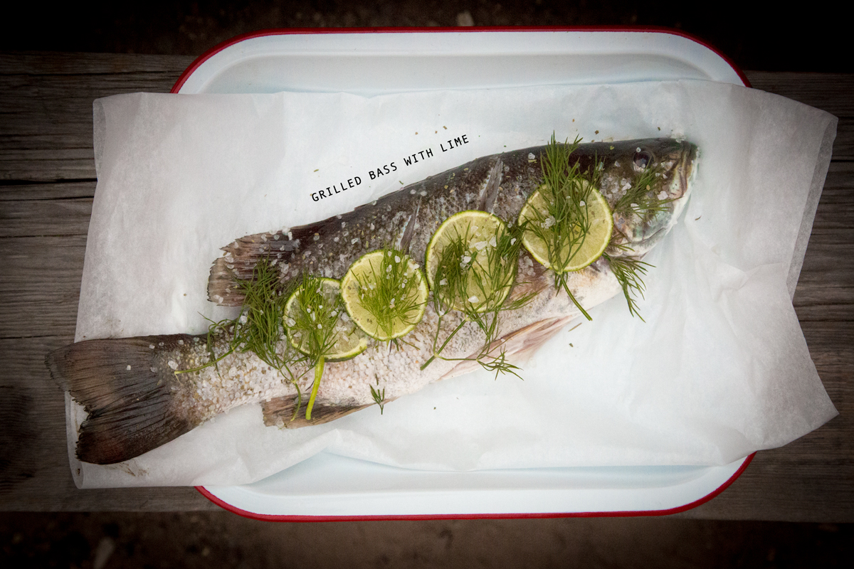 Grilled Bass with Lime via J5MM.com