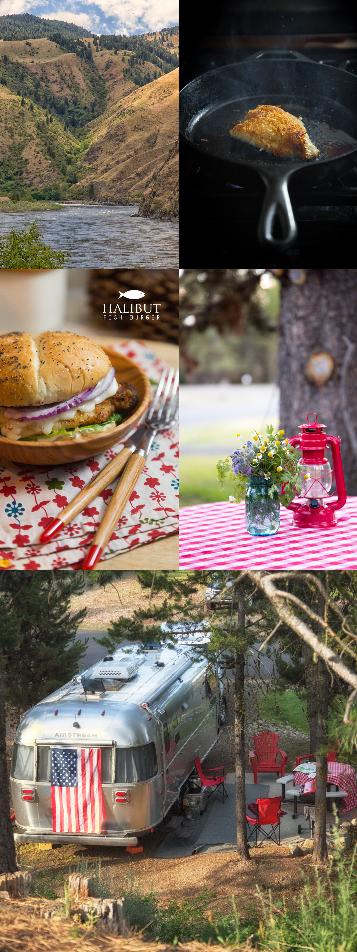 HALIBUT Fish Burger at the McCall RV Resort via J5MM.com
