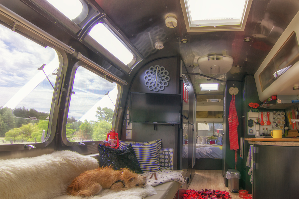 Inside Our Airstream Trailer via J5MM.com