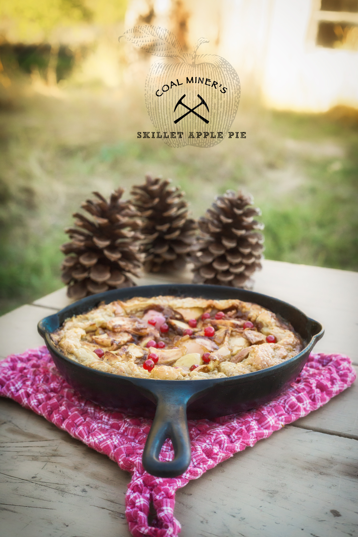 Coal Miners Skillet Apple Pie via J5MM.com