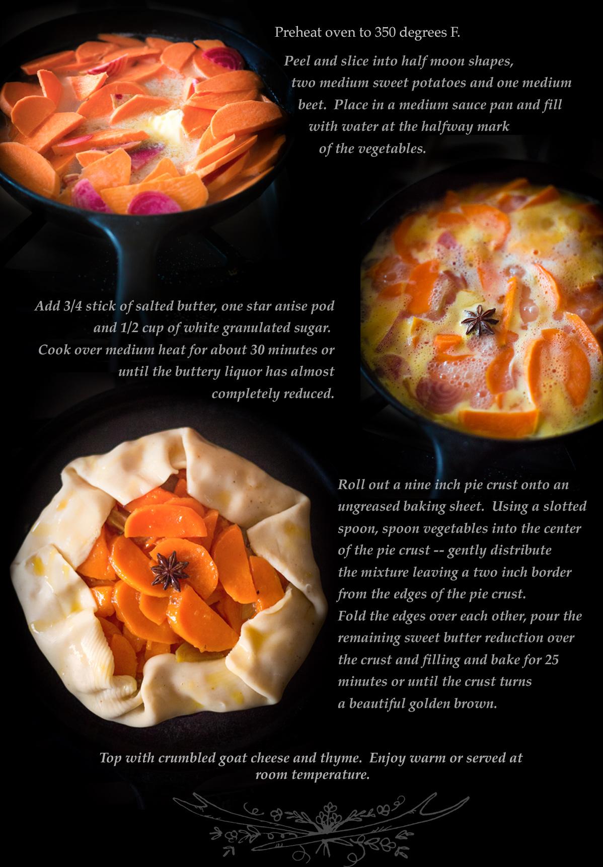 Sweet Potato and Beet Tart via J5MM.com // RV Cooking //