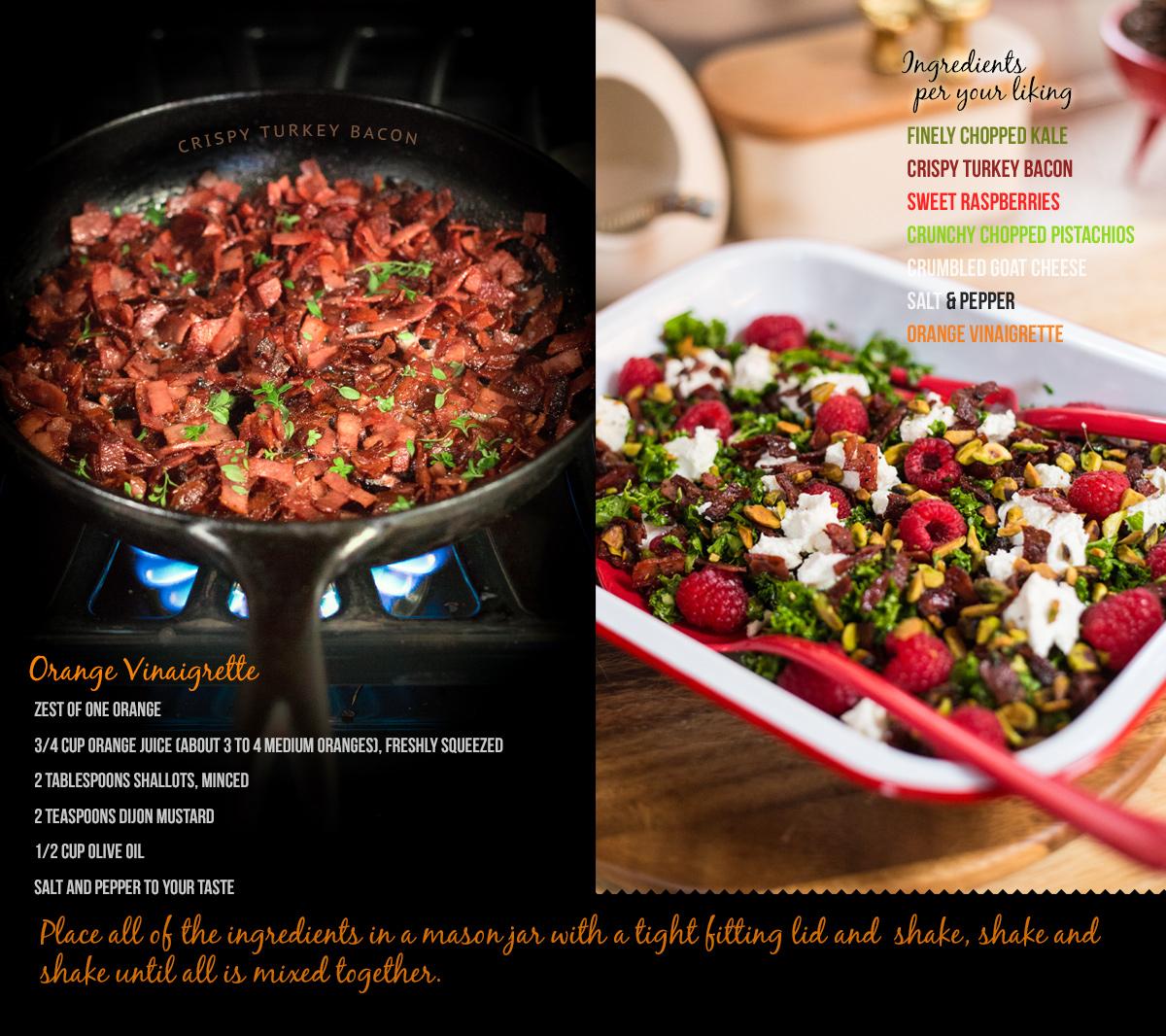 Crunchy Kale Christmas Salad via J5MM.com // RV Cooking