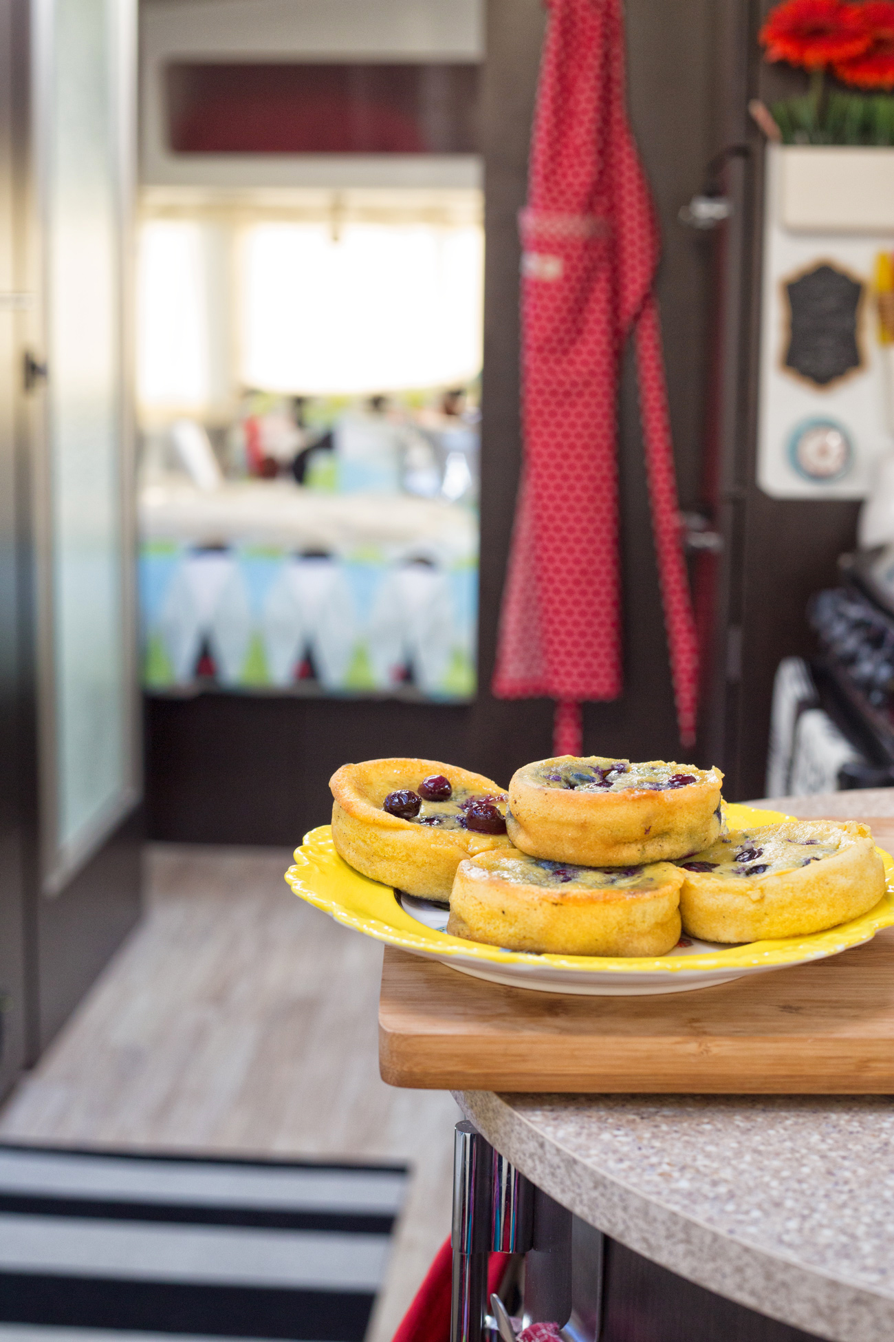 Blueberry Corn Cakes via J5MM.com // RV Cooking Airstream Style