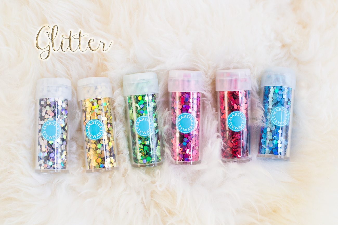 Craft Kit for the Road via J5MM.com  // Martha Stewart Chunky Glitter