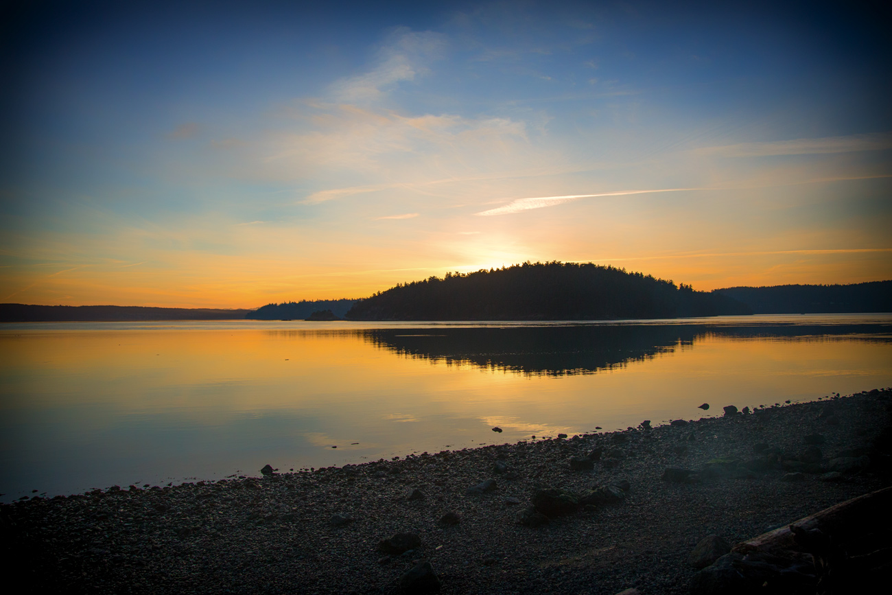 Sunset in LaConner // Thousand Trails Campground via J5MM.com // Site 164