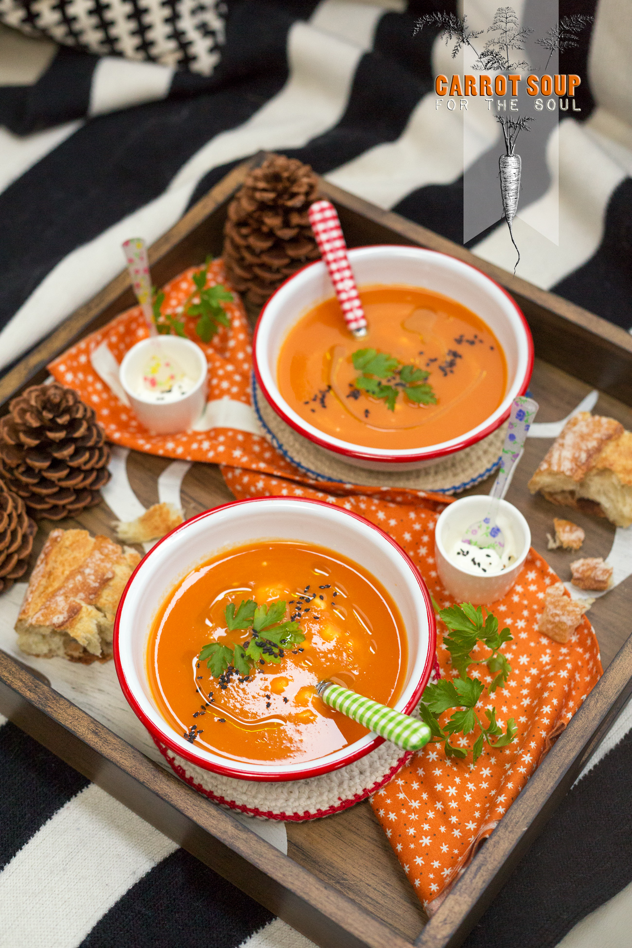 Carrot Soup for the Soul via J5MM.com // Airstream Kitchen