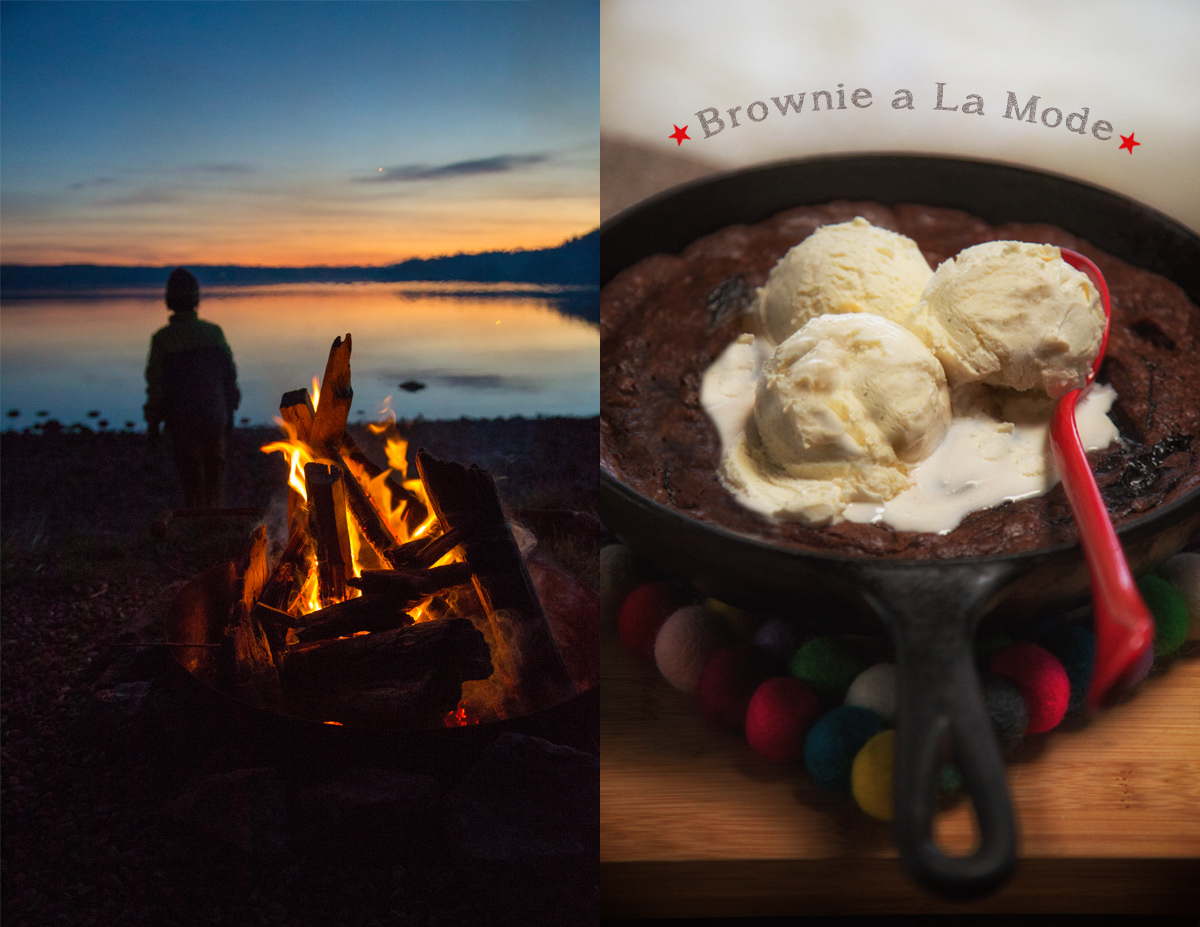 Glamping Cuisine // Brownie A La Mode via J5MM.com