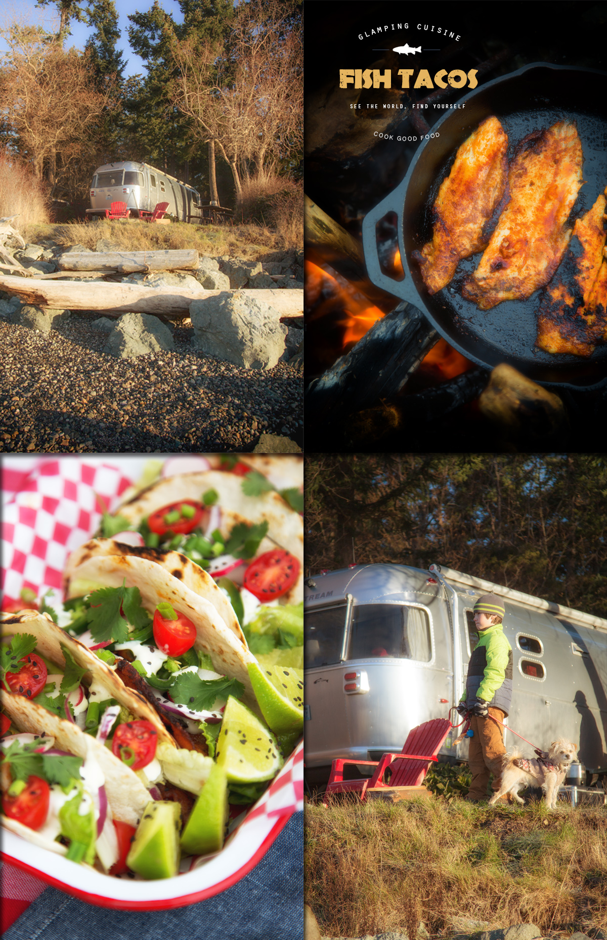 Glamping Cuisine Airstream Style via J5MM.com