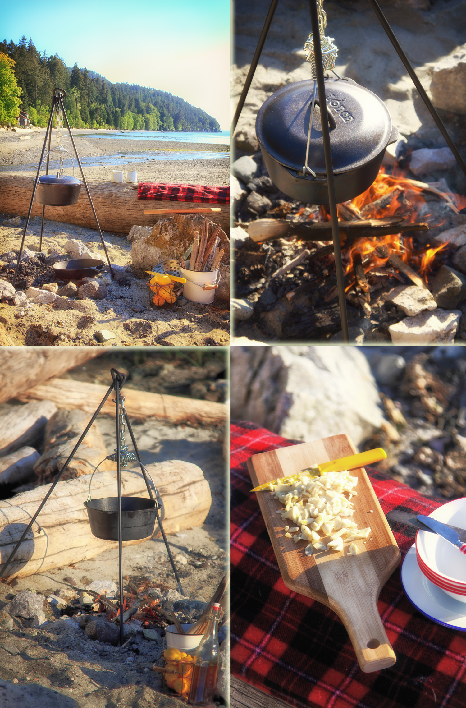 Campfire Cooking Tripod via J5MM.com