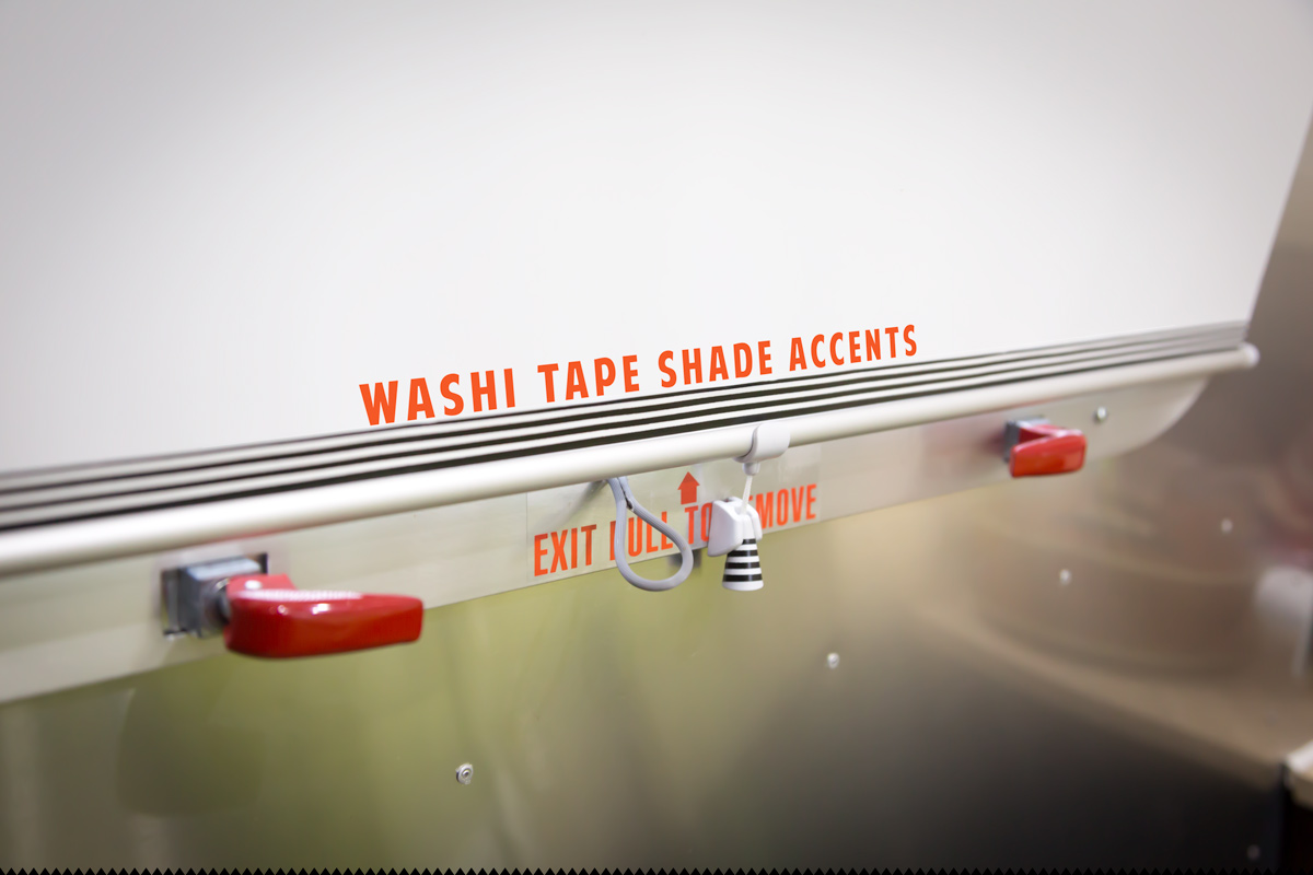Washi Tape Shade Accent via J5MM.com // RV Lifestyle #Airstream Style