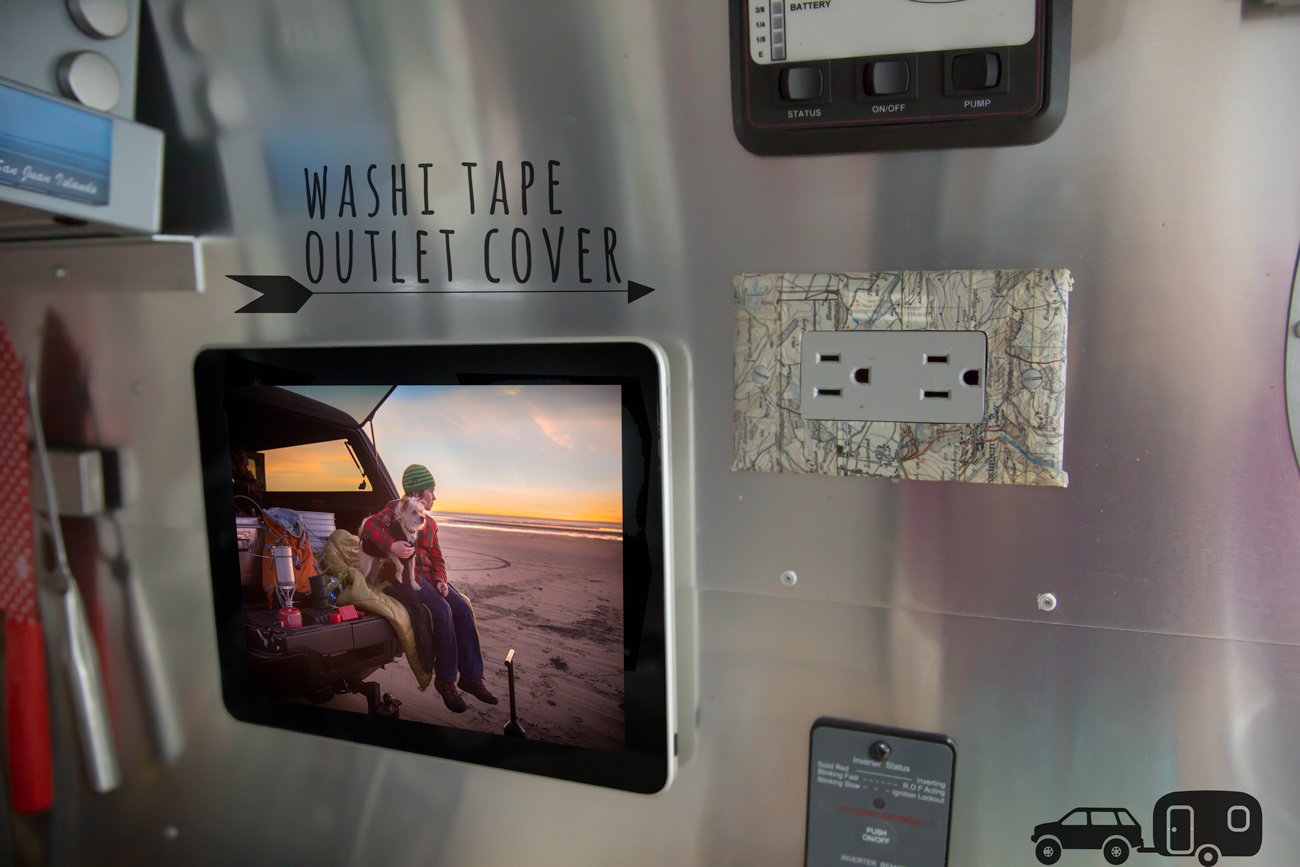 Washi Tape Outlet Cover via J5MM.com // RV Lifestyle #Airstream Style