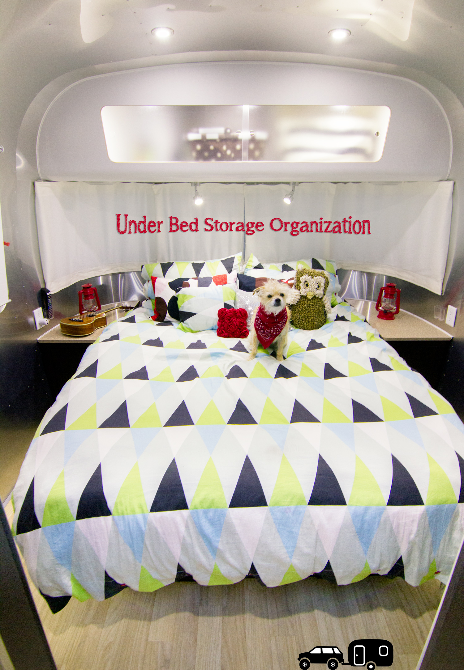 Under Bed Storage Organization on the Airstream  via J5MM.com // RV Lifestyle #Airstream Style