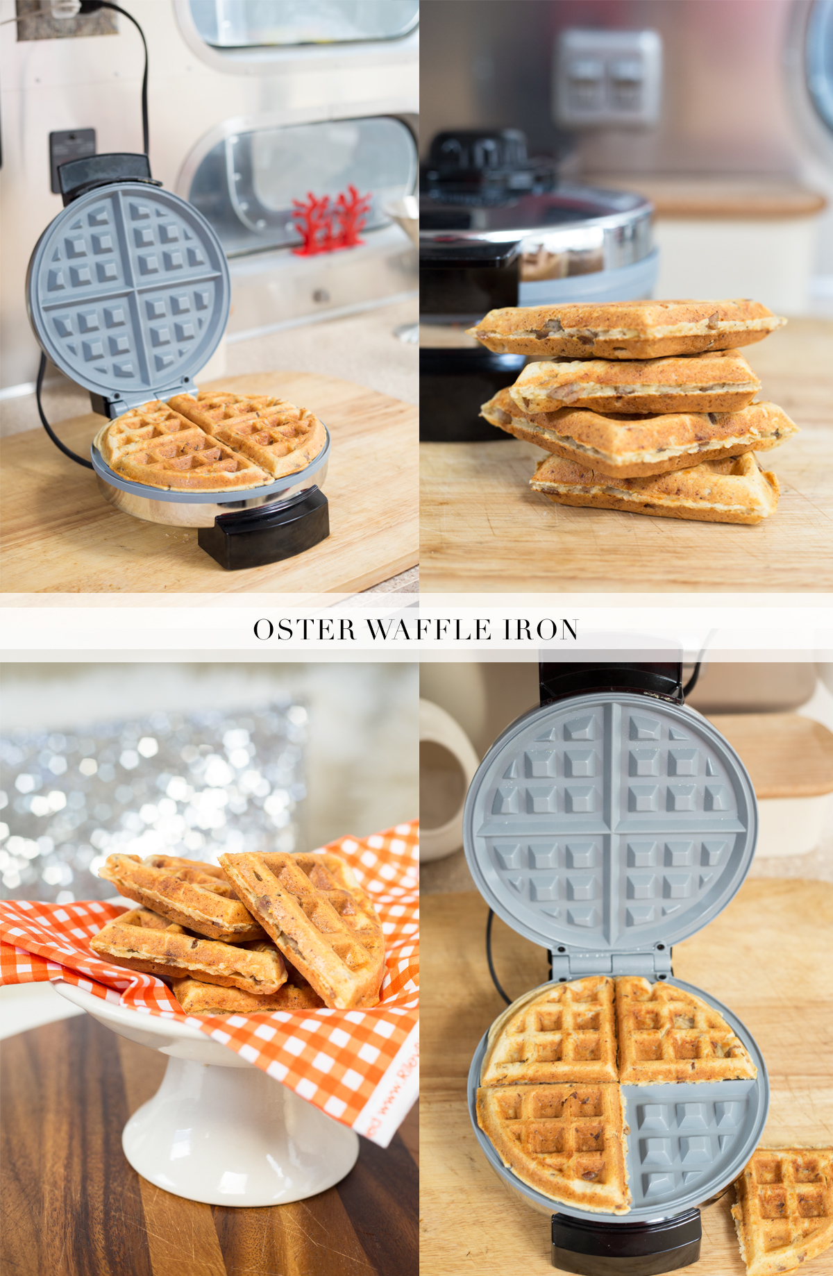Oster Waffle Iron via J5MM.com // #Airstream Kitchen