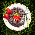 Dark Chocolate Waffles via J5MM.com // #Airstream