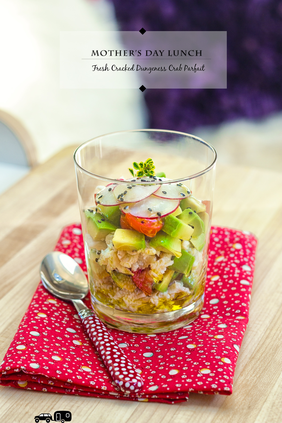 Fresh Cracked Dungeness Crab Parfait via J5MM.com // RV Lifestyle #Airstream Style