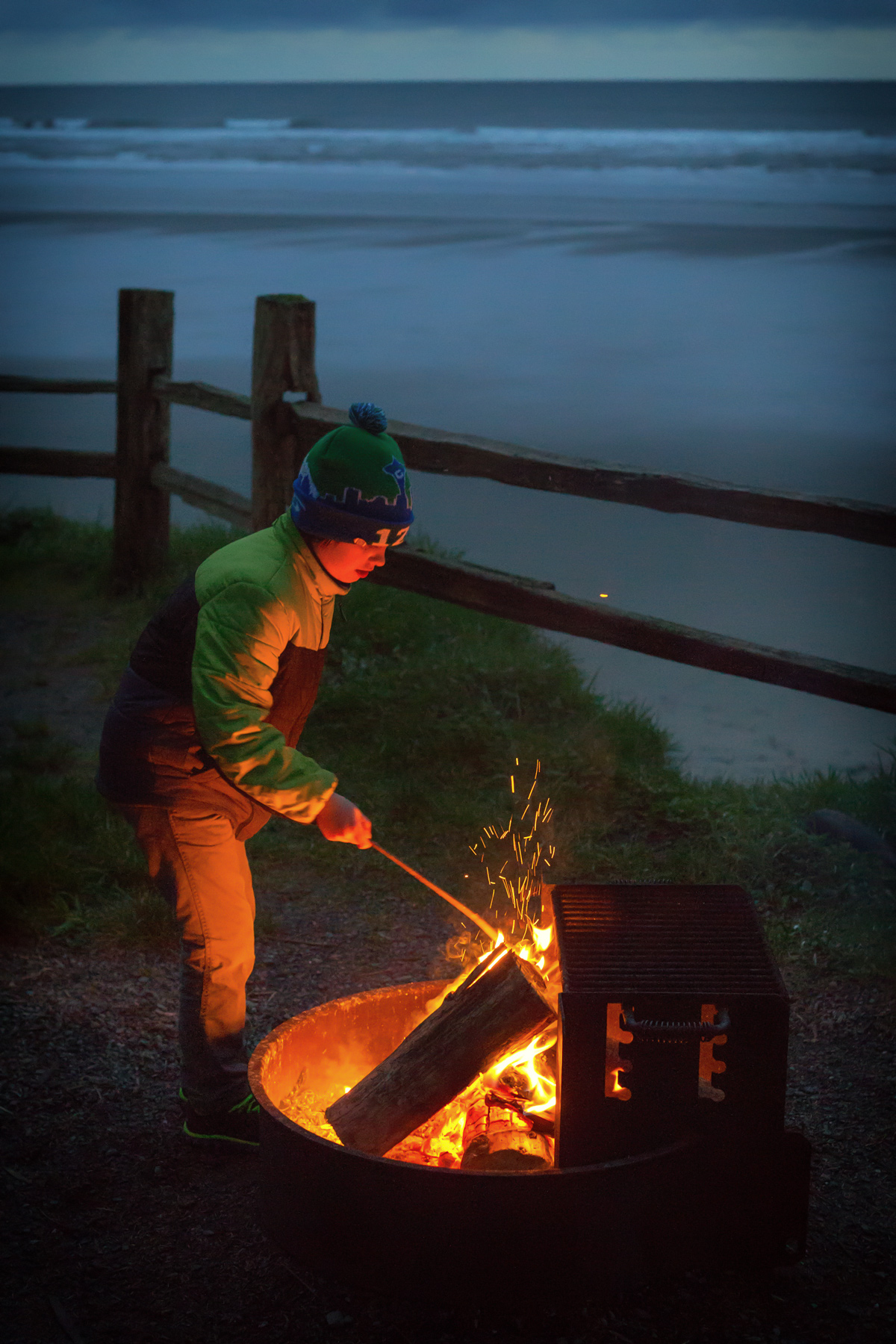 Campfire with an Ocean view via J5MM.com