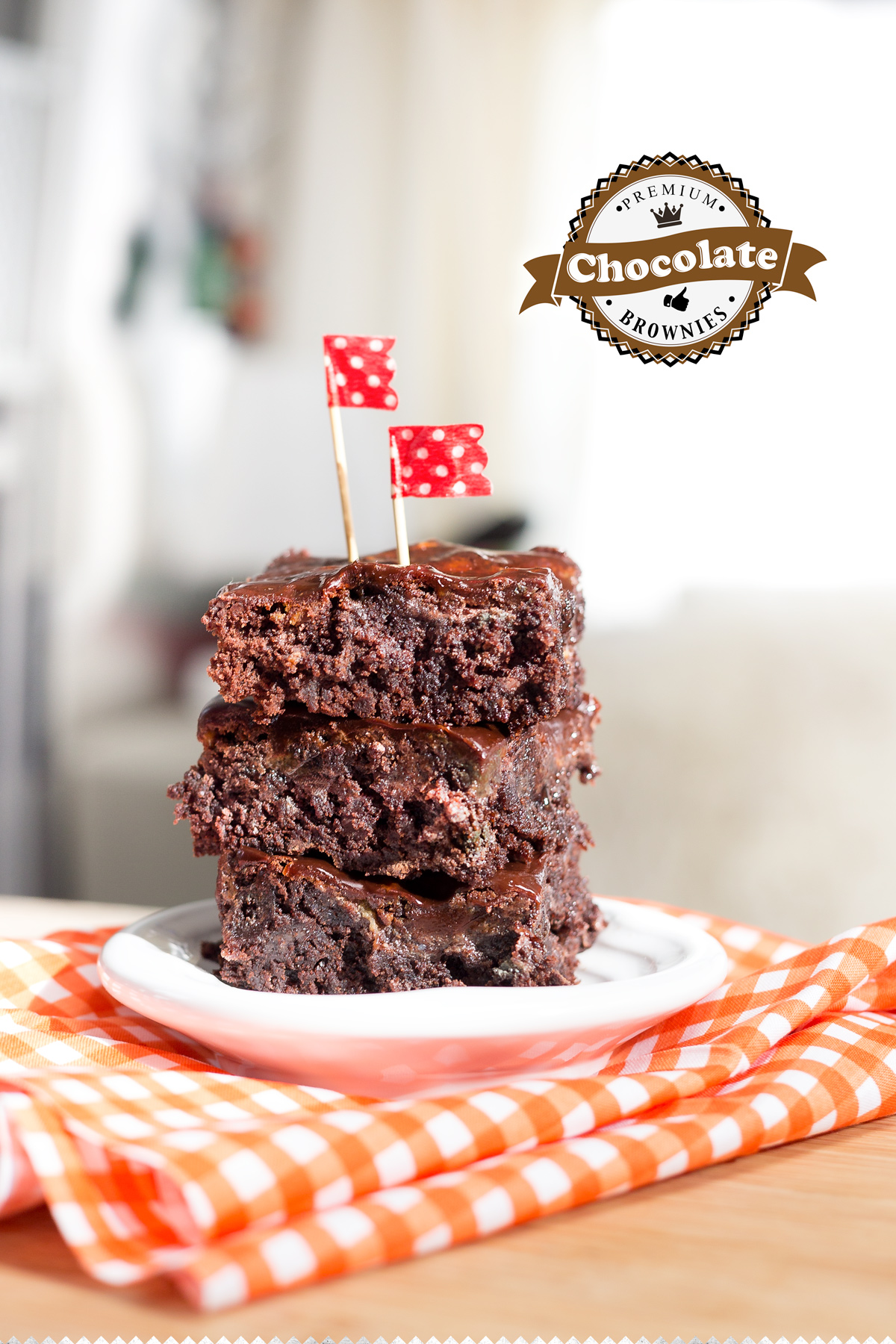 Fudgy Brownies via J5MM.com // #AirstreamKitchen