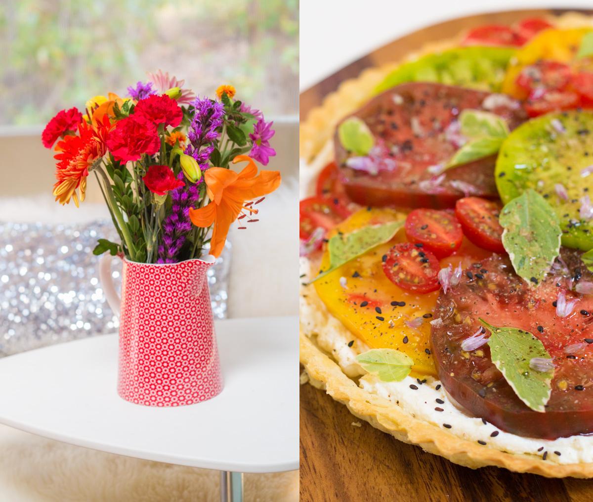 Heirloom Tomato Summer Pie via J5MM.com
