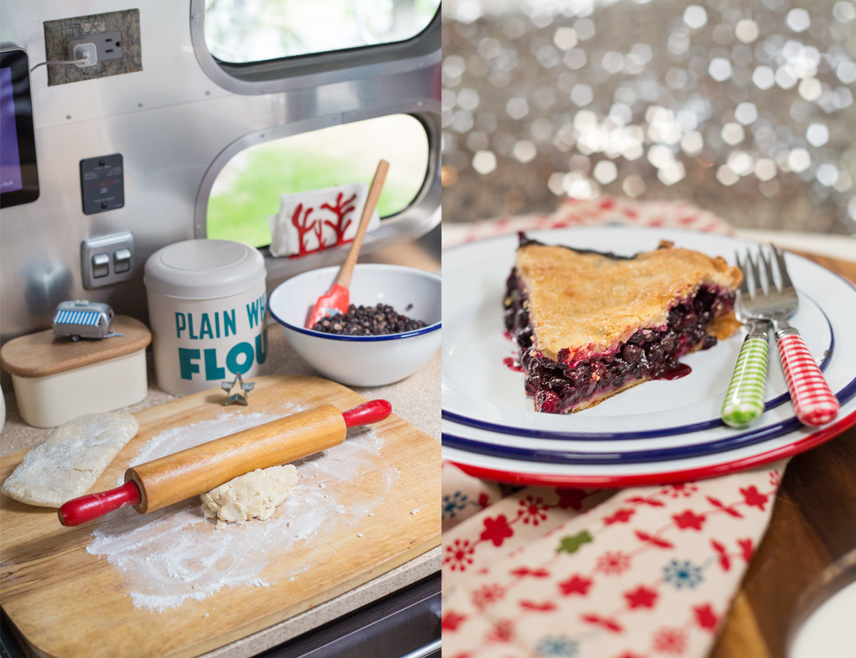 Huckleberry Pie via J5MM.com // #AirstreamKitchen