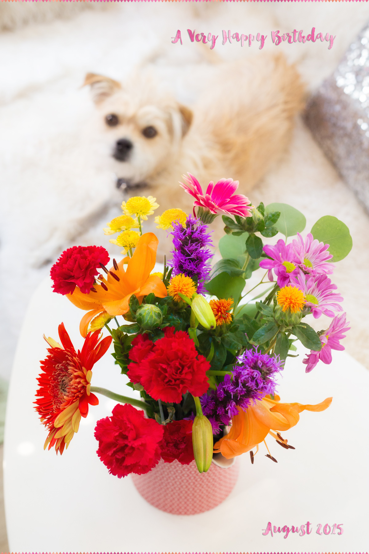 Birthday Flowers via J5MM.com // #GoRVing #Airstream