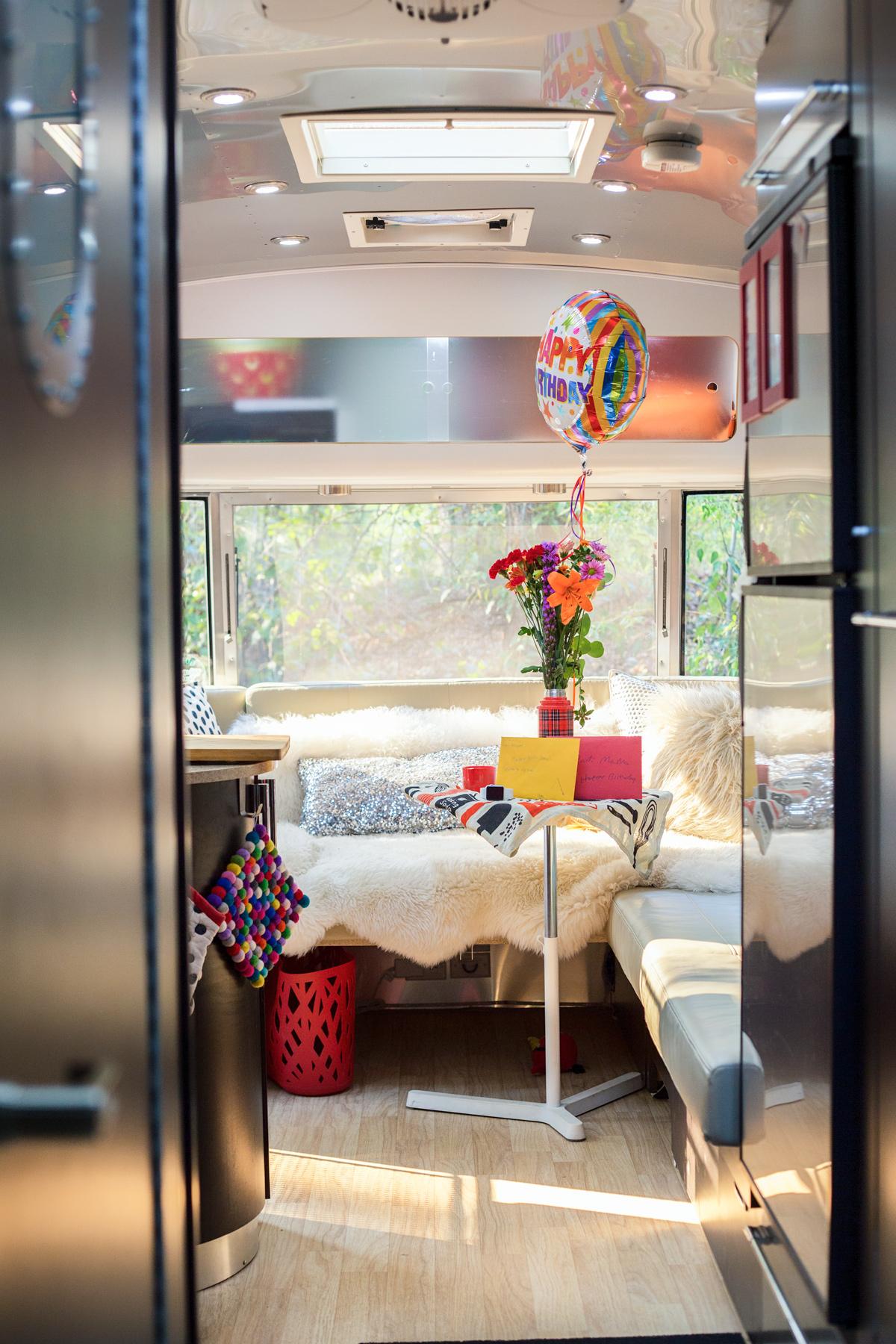 Airstream Trailer Birthday Celebrations via J5MM.com