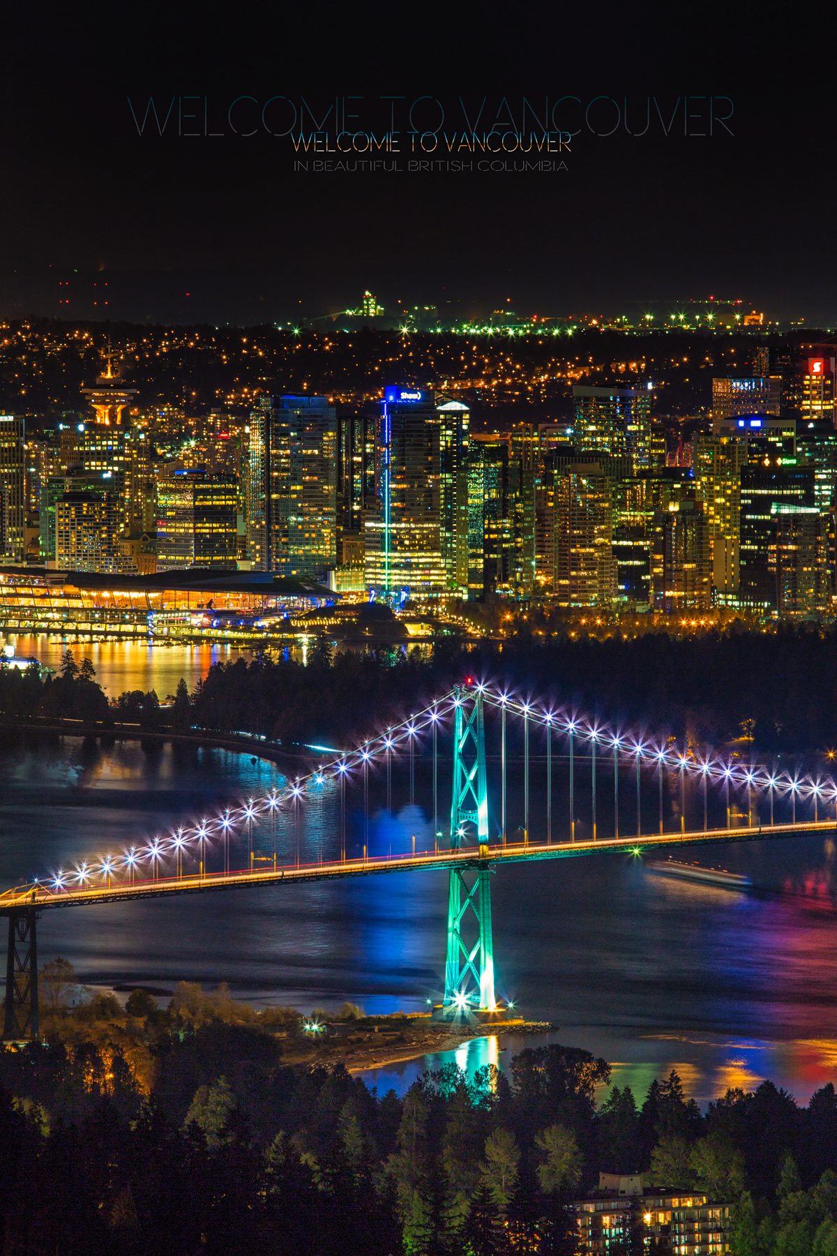 Downtown Vancouver at Night via J5MM.com