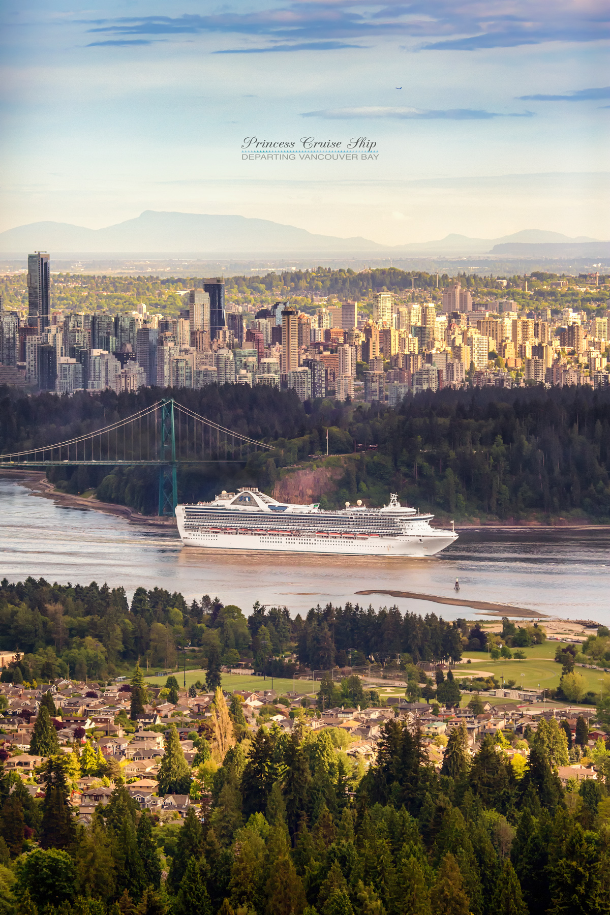 Princess Cruise Ship departing Vancouver Bay via J5MM.com
