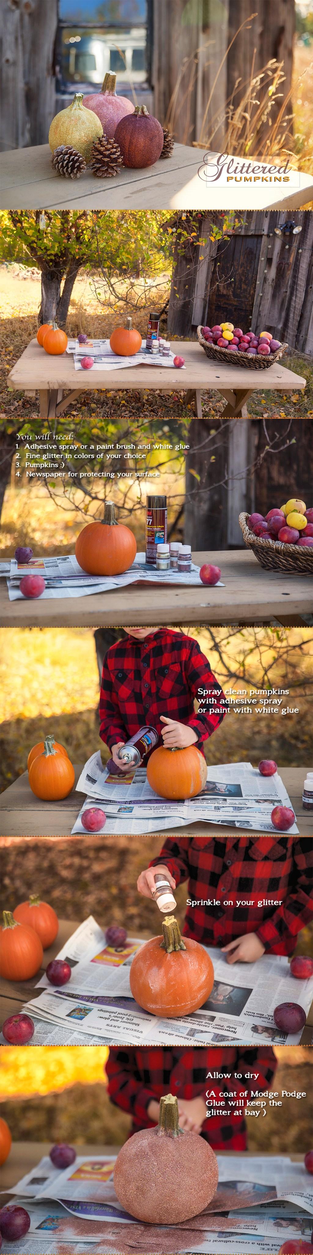 Glitter Pumpkins via J5MM.com // #Airstream #GoRVing