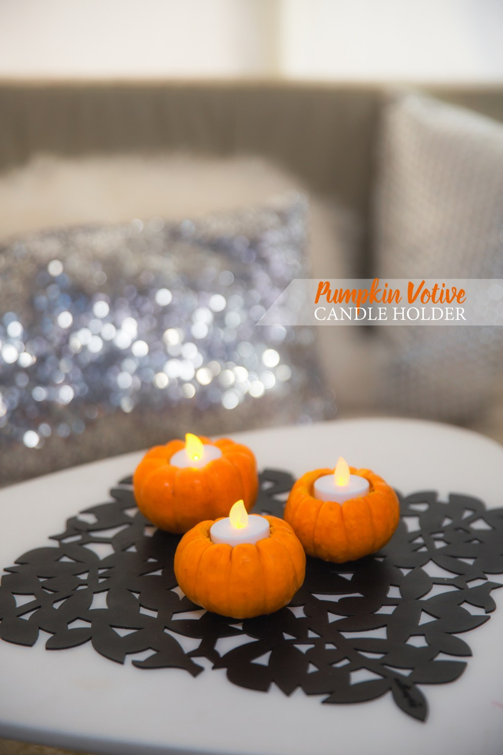 Pumpkin Votive Holders via J5MM.com